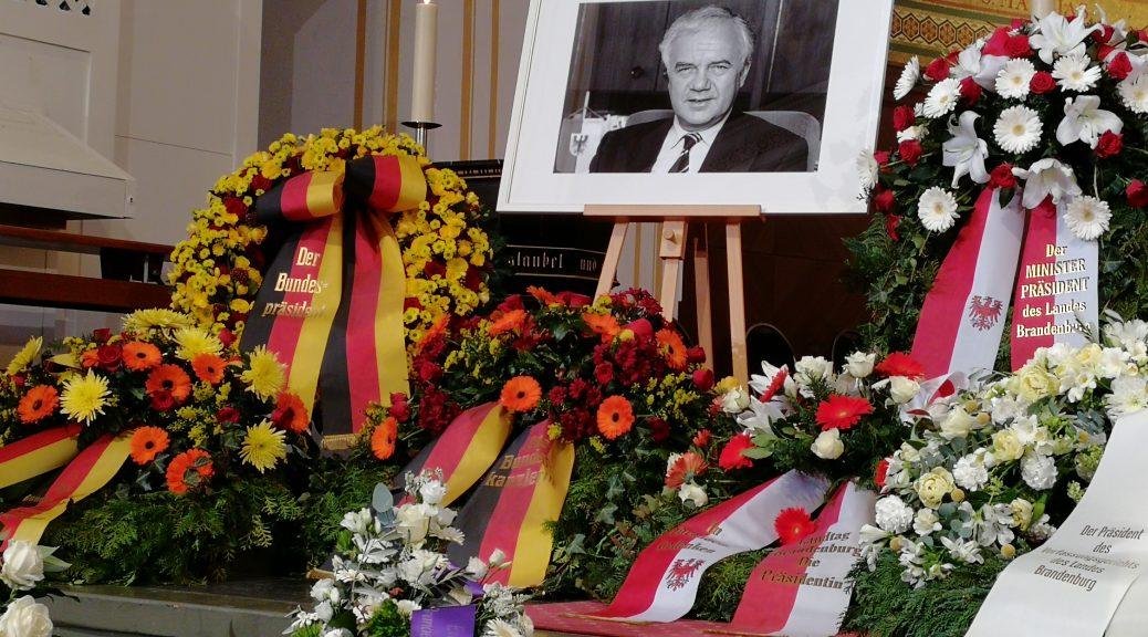 Manfred Stolpe, gestorben am 29. Januar